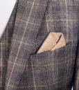 brown check detail